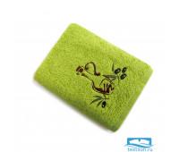 ПРИМА 40*60 зеленое полотенце хлопок 100% 420 гр/кв.м