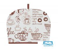 Чехол на чайник «Кофе» рогожка 30х25