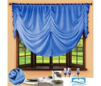 Комплект штор № 049, 280х200, голубой