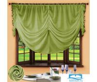 Комплект штор № 049, 280х200, зеленый