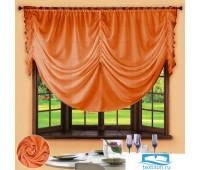 Комплект штор № 049, 280х200, оранжевый