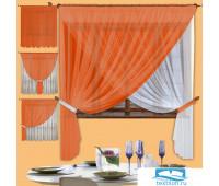 Комплект штор № 067, (200*300)х2 оранжевый