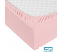 Розовая трикотажная простыня 180х200х20