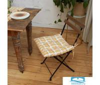 Сидушка на стул Этель Yellow garden 42х42см, 100% хл, 190 г/м2