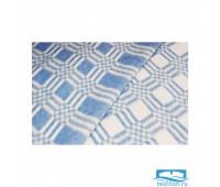 Синее Комбинированная клетка Байковое  100х140 арт. 57-3ЕТ 90%