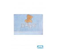 ТЕДДИ 30*60 голубое полотенце махровое