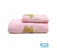 ТЕДДИ 70*140 розовое полотенце махровое