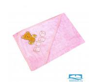 ТЕДДИ 80*80 розовый уголок махровый