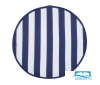 Декоративная подушка (сидушка) на липучке круглая  рогожка