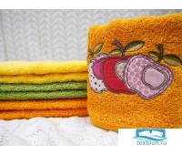 ЯБЛОЧКО 40*60 оранжевое полотенце хлопок 100% 420 гр/кв.м